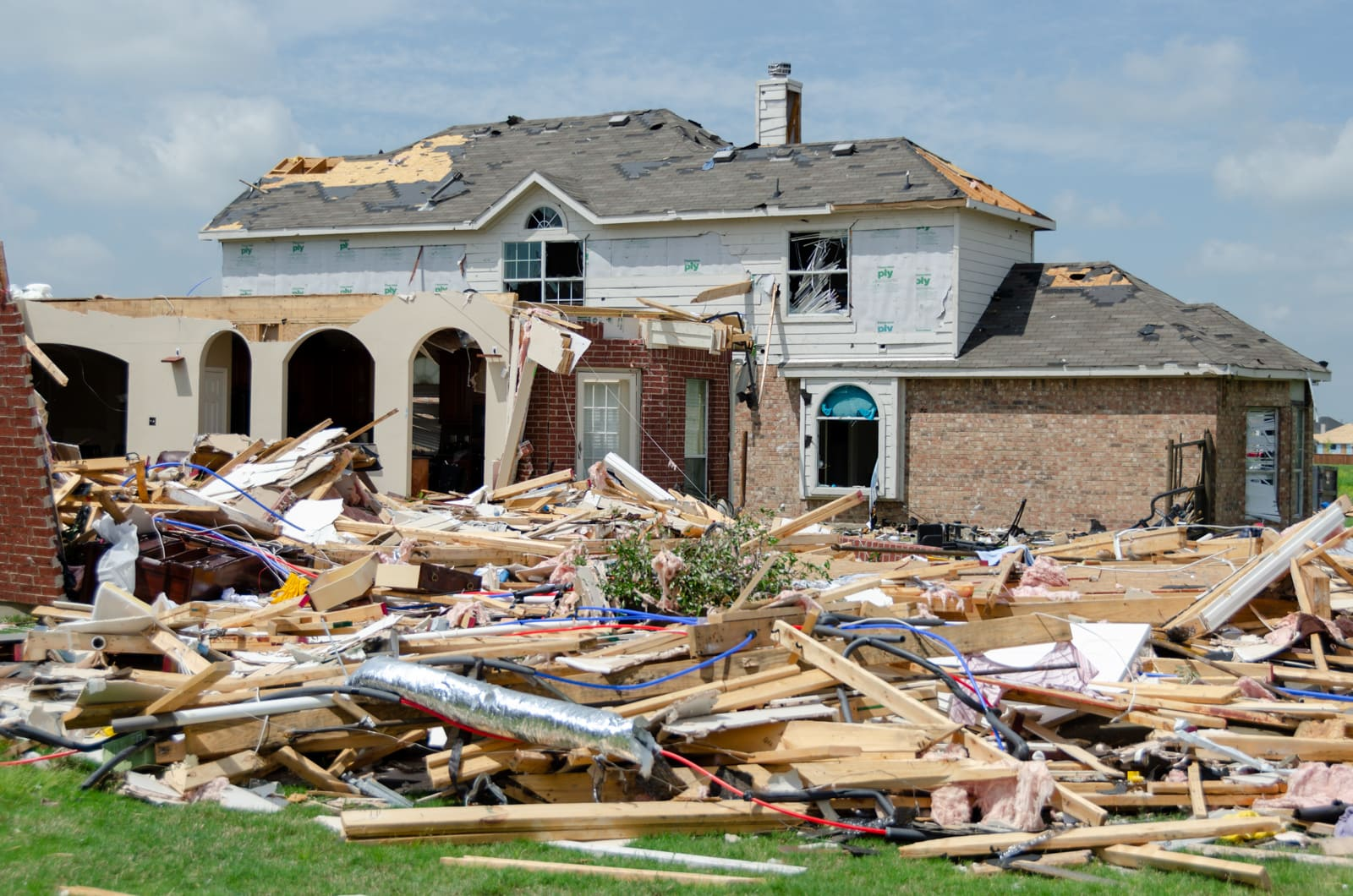 A Forney tornado destroyed this house