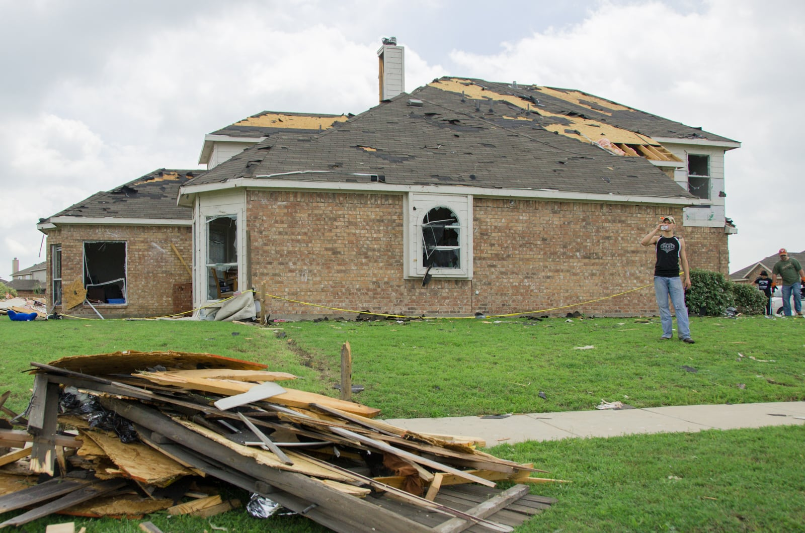 Diamond Creek subdivision home damaged by the Forney tornado