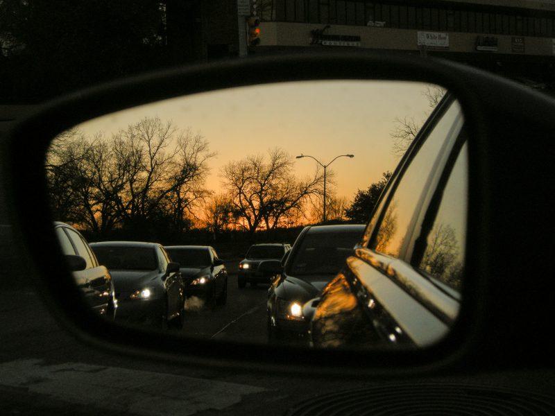 Commuting in Dallas at sunrise