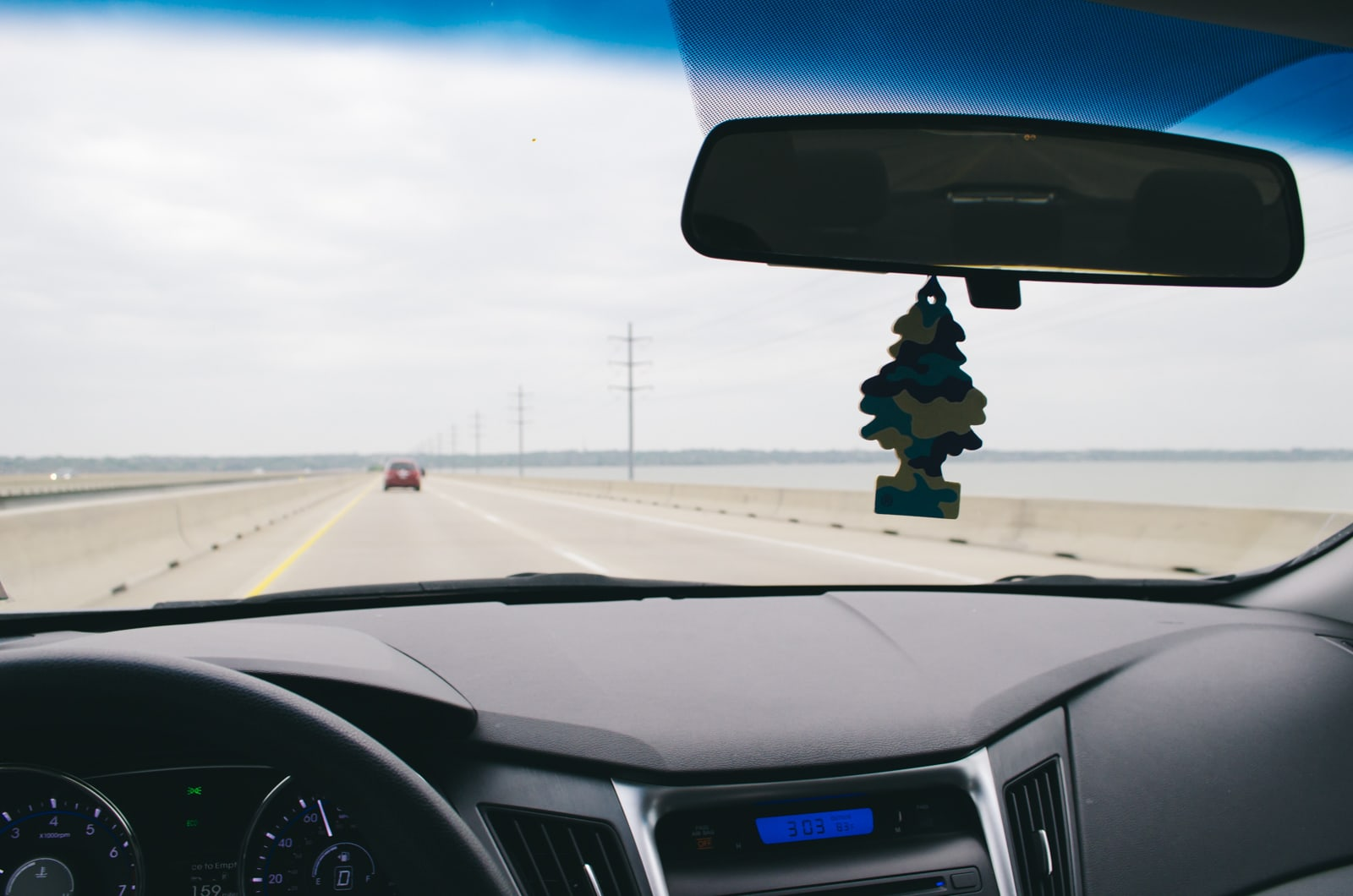 Commuting on a highway 30 bridge over Lake Ray Hubbard