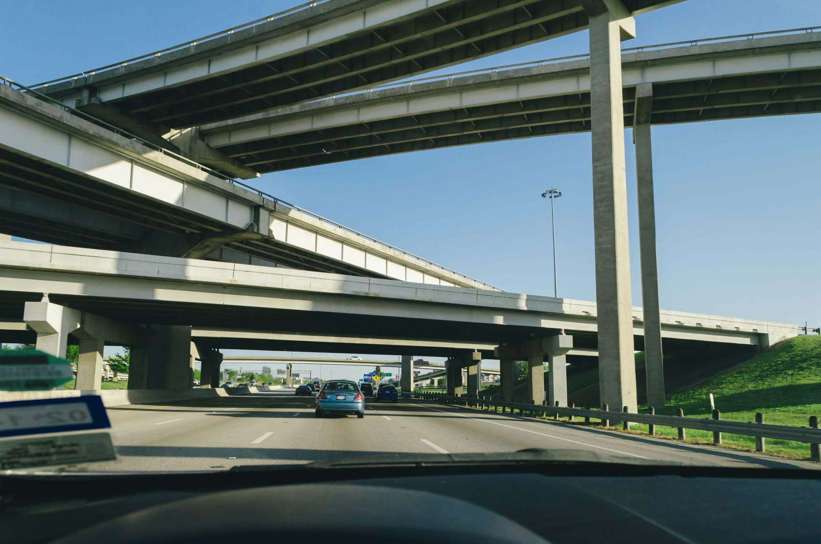 Overlapping bridges on highway 75