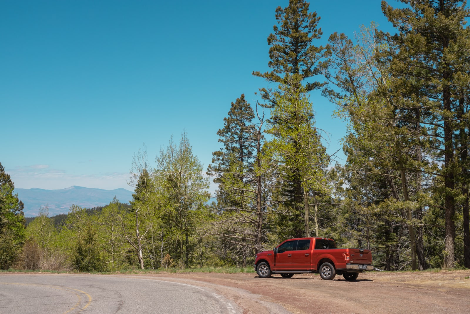 F-150 in the New Mexico mountains