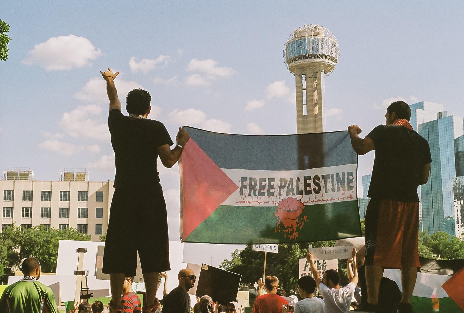 Pro-Palestine Protest at the Dealy Plaza in Dallas