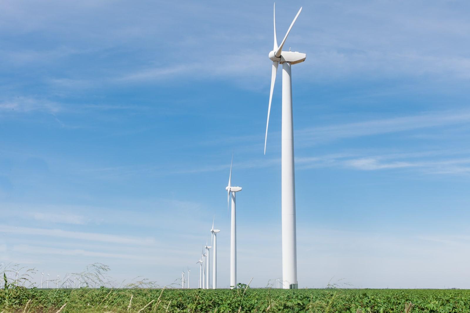 Clean energy generating wind turbines in West Texas