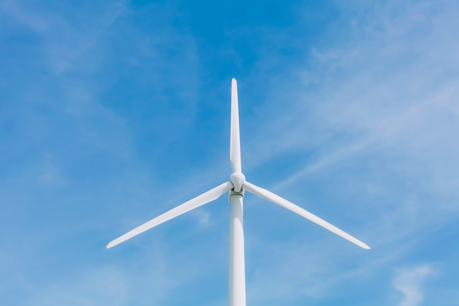 Wind Turbine close up at the Roscoe Wind Farm