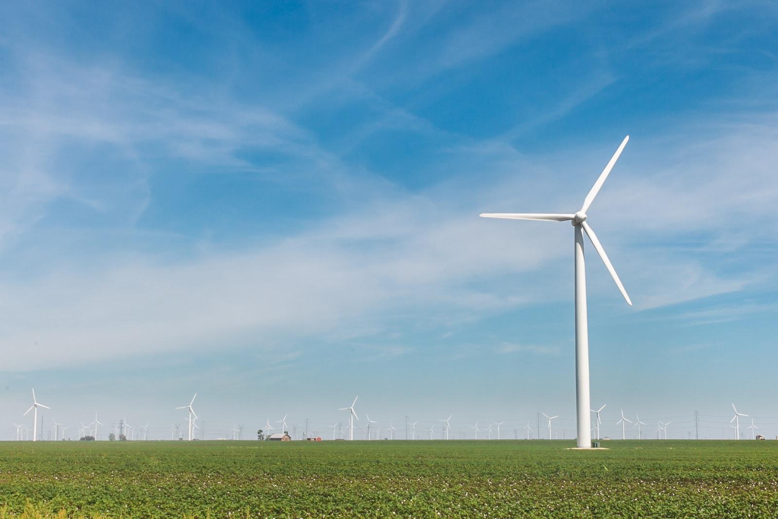Wind turbines at the West Texas wind farm