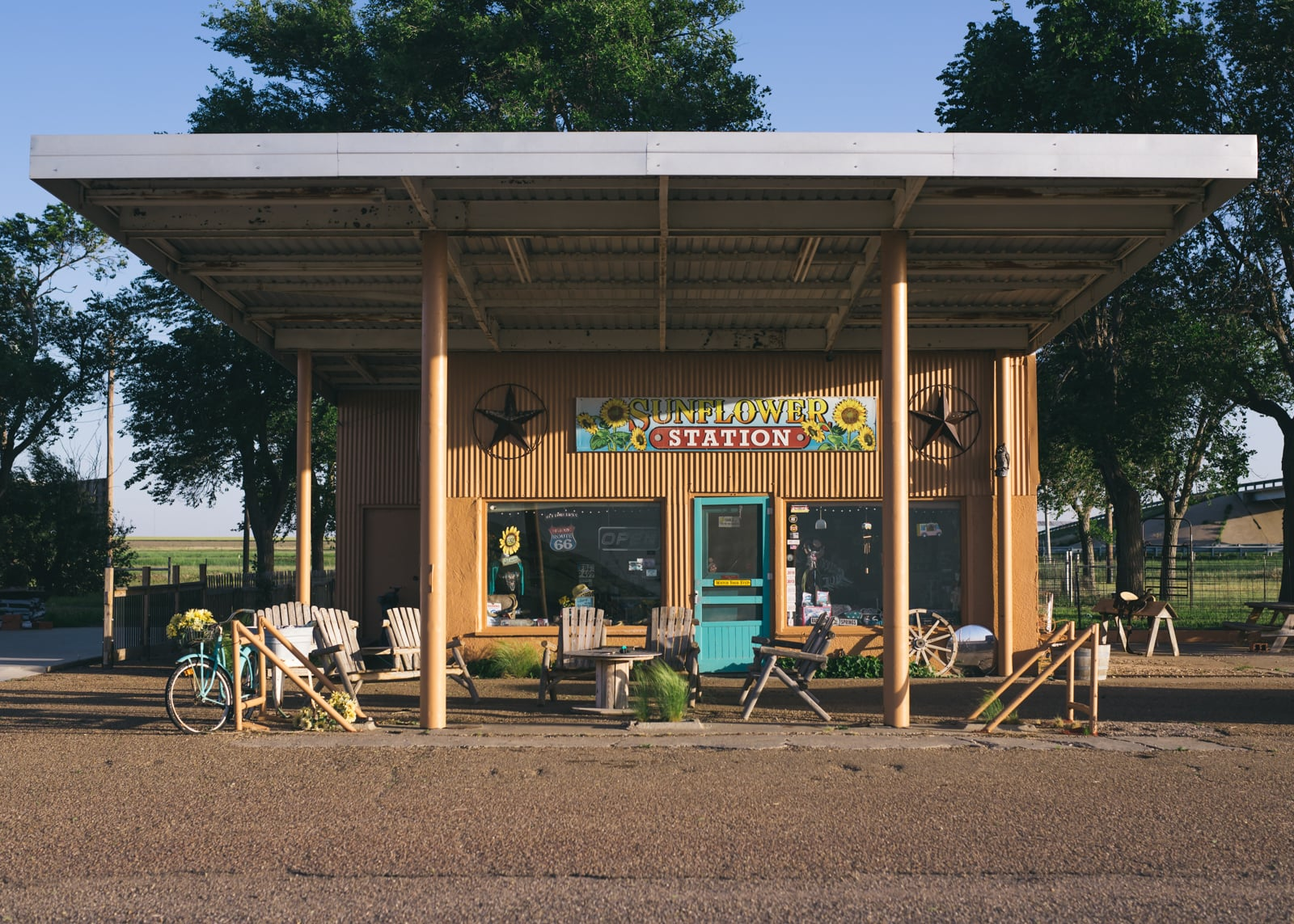 Sunflower Station at the Route 66 Midpoint