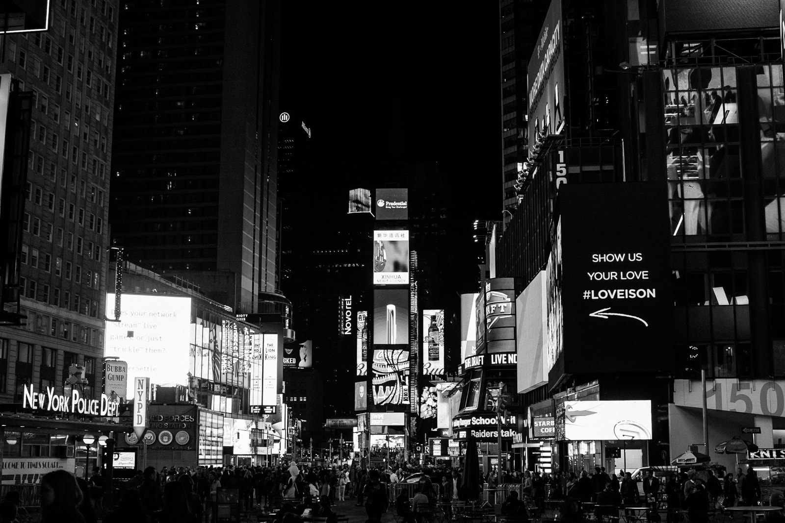 Times Square at night in NYC