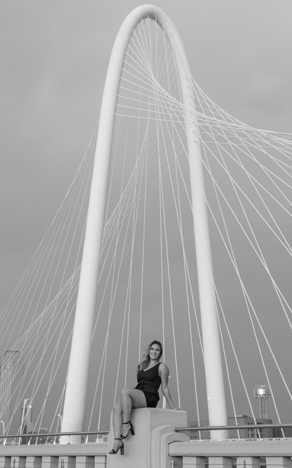 Taylor Bickford at the Margaret Hunt Hill Bridge