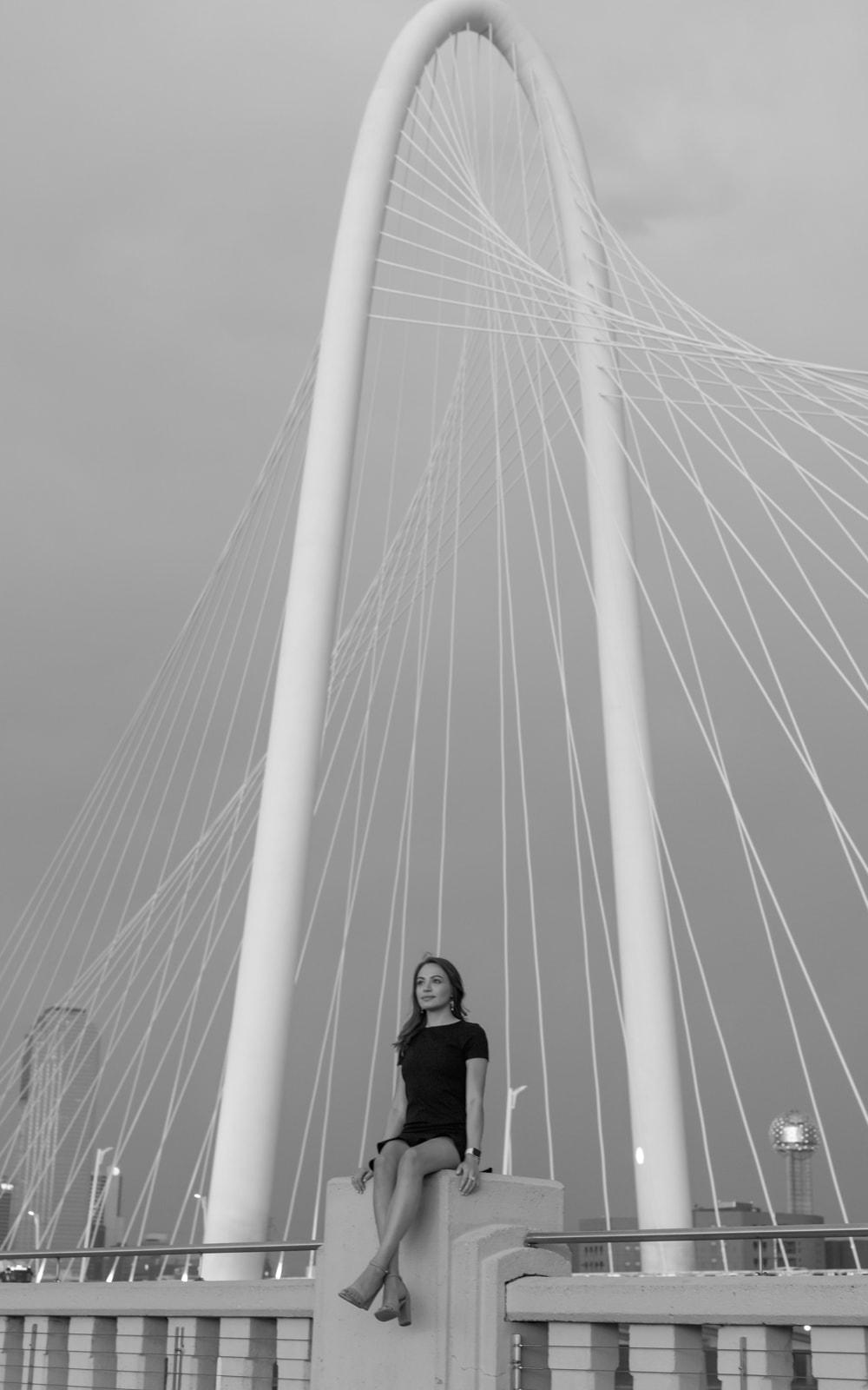 Julie Garza at the Margaret Hunt Hill Bridge