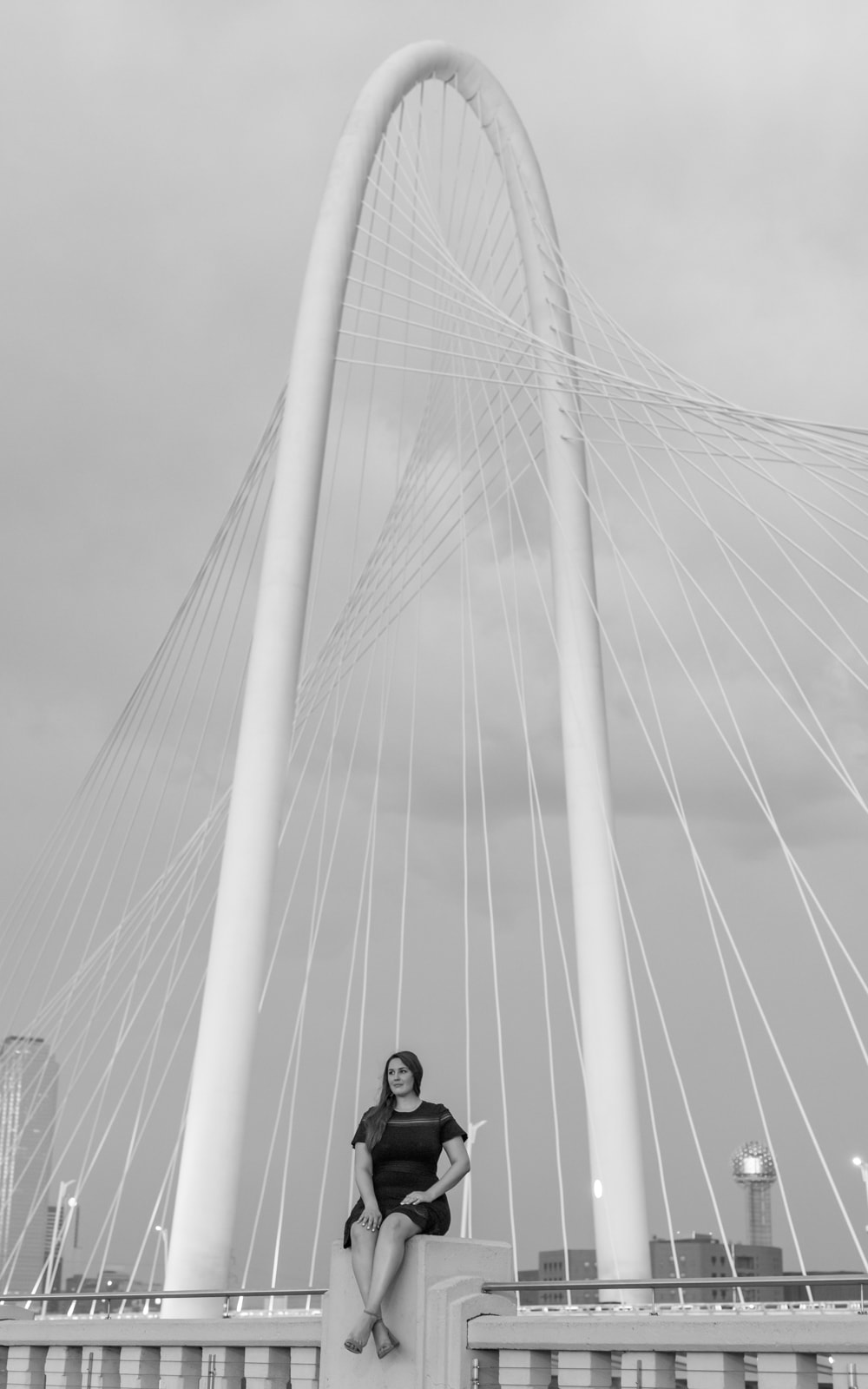 Andrea Rader at the Margaret Hunt Hill Bridge