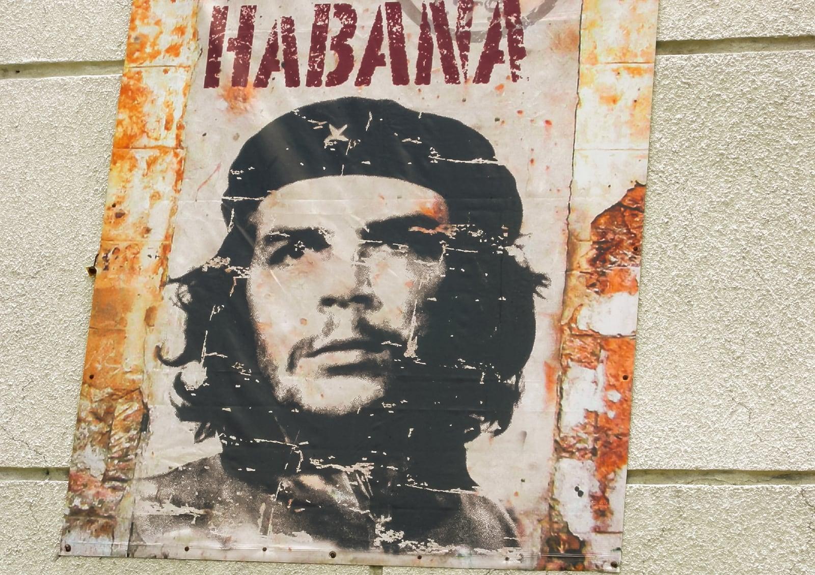 Che Guevara poster in Guadalajara